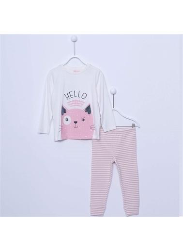 Silversun Kids Kız Çocuk Baskılı Pijama Takım - !Pjm 212970 Ekru